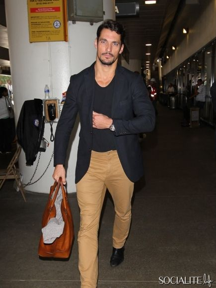David Gandy arrived at LAX Airport on September 23, 2013 in Los Angeles, California.