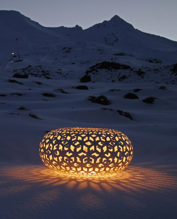 Snowflake is a pendant light that isn't afraid to make an impact. It's creation of intricate patterns is beautiful to behold, be it on walls within a home or, in this case, on the snow.