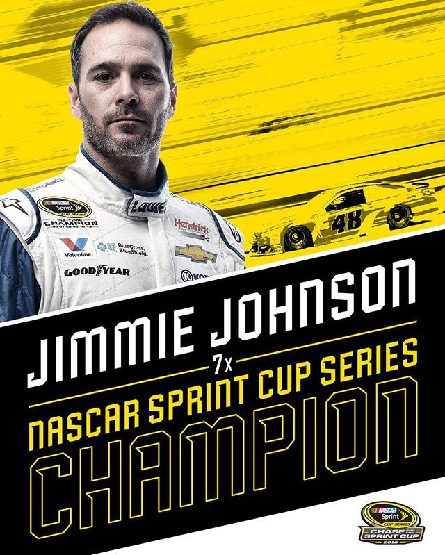 CHECKERED FLAG: @jimmiejohnson wins and reaches #se7en! #TheChase #NASCAR