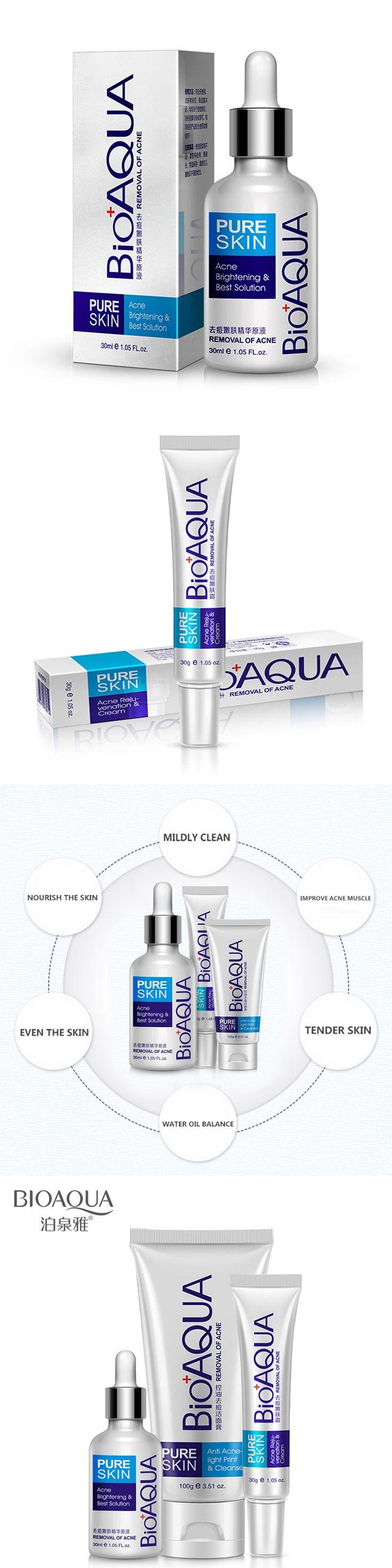 BIOAQUA 3 kins/sets Face Care Repair Acne Scar Cream Acne Anti essence Skin Care  deep clean Product