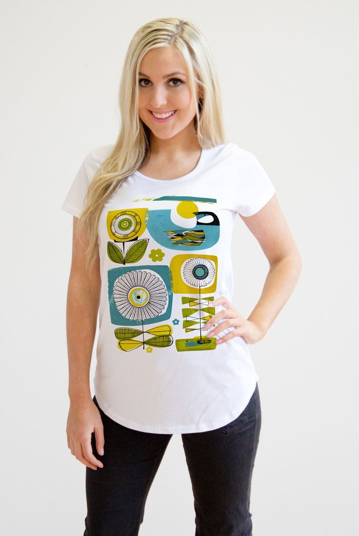 SUNNY DAYS WOMEN'S SCOOP NECK - Artist Series - Collections | Mr Vintage T-Shirts, Apparel & Gifts