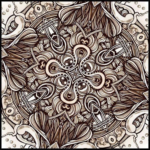 Kaleidoscopic Images by Irina Vinnik, via Behance