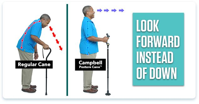 Campbell Posture Cane™ | Postures, See on tv, Medical field