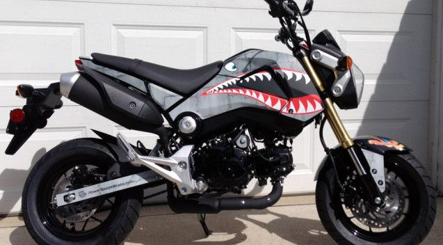 Honda Grom fighter plane graphics kit