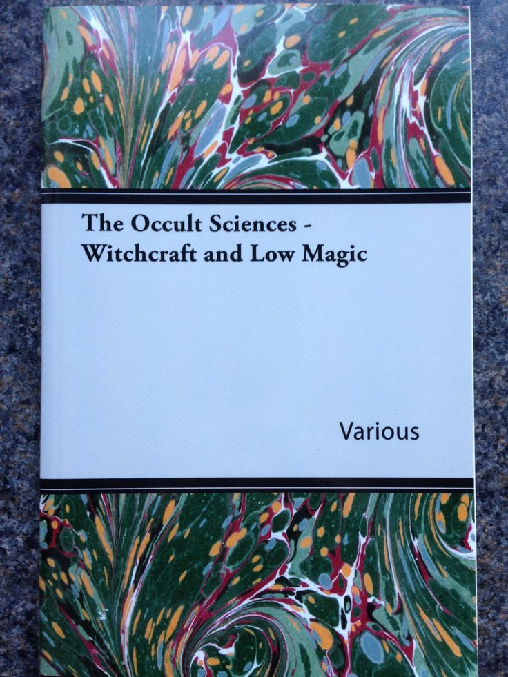A book on The Occult Sciences Witchcraft and Low Magic by Naturescurios on Etsy