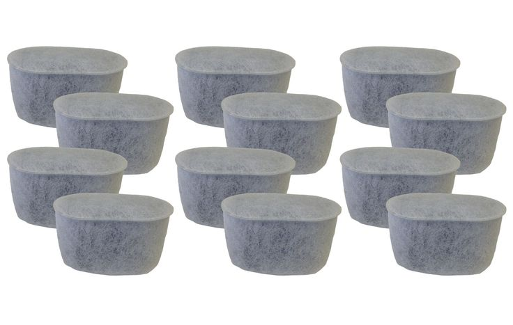12-Pack Krups Charcoal Water Filters Style F472 for FMF, FME, 629, 619, 180, 176, 466, & 467 Krups Coffee Makers