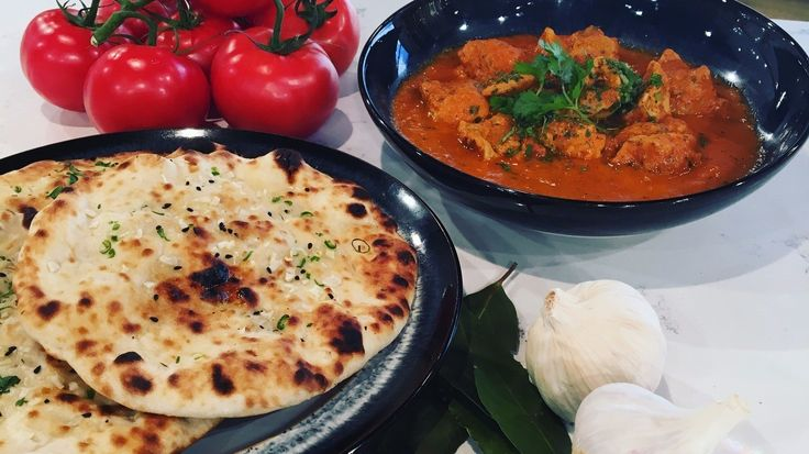 Vivek Singh's butter chicken and homemade naan bread