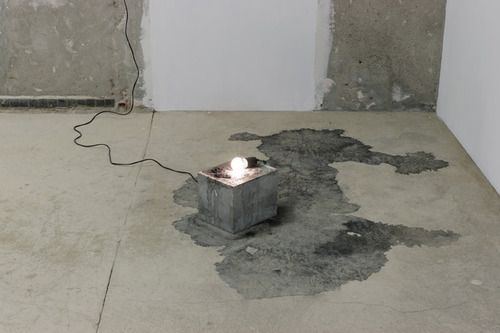 Kitty Kraus, Untitled, (Small Ice Lamp), 2008