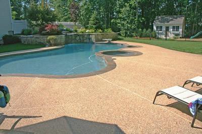 Exposed Aggregate Concrete Pool Decks New England Hardscapes Inc Acton, MA
