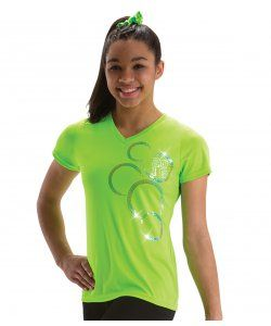 Lime V Neck T-Shirt