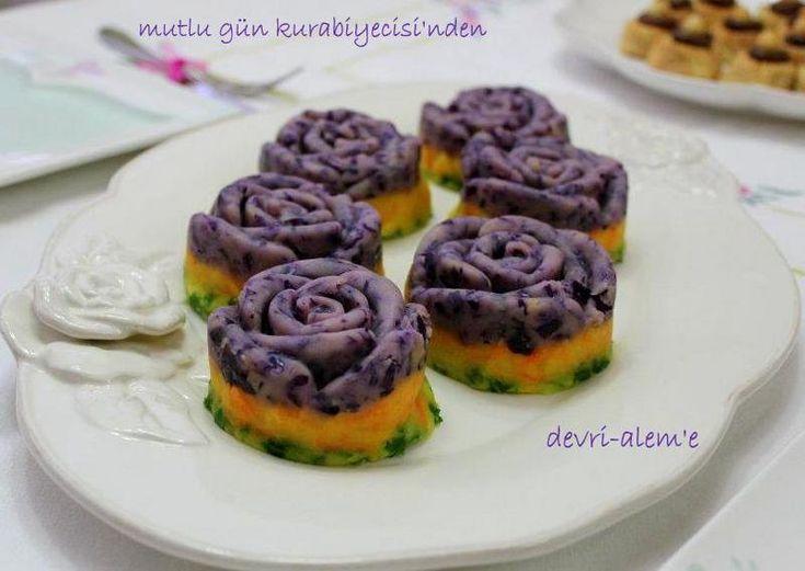 Patatesli mor güller