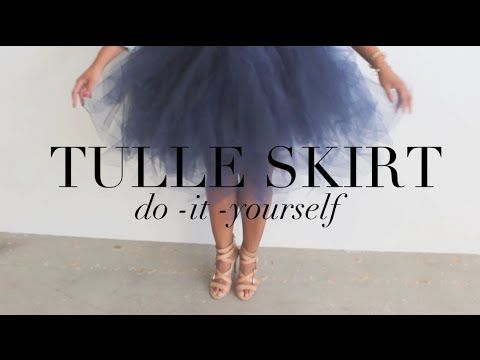 {DIY} Tulle Skirt... Your Inner Carrie Bradshaw Will Thank You! - YouTube