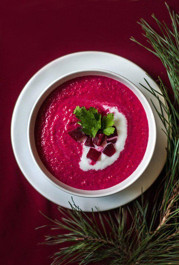Zupa krem z buraka i mleka kokosowego