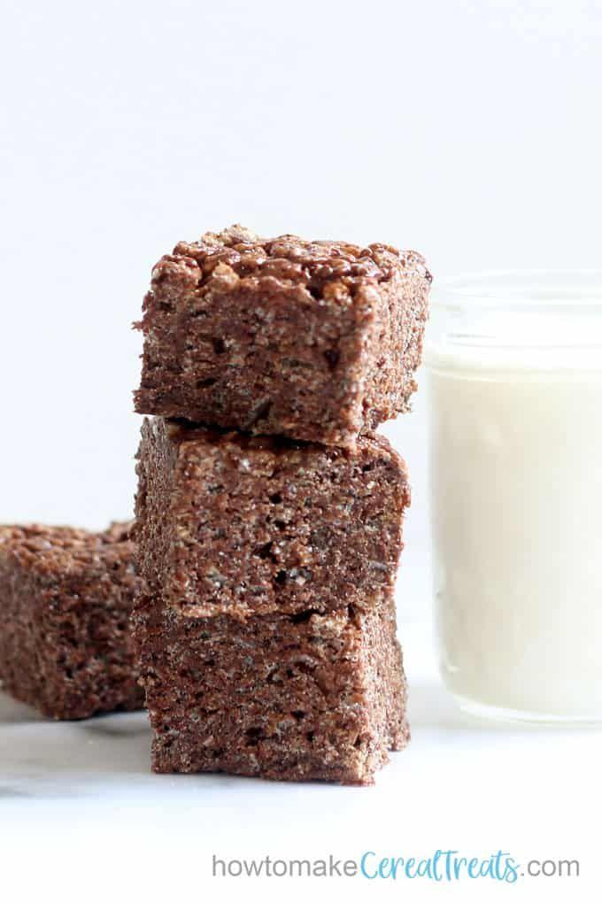 Jun 22, 2020 – Amazing double chocolate Rice Krispie Treats! An easy, no-bake dessert.