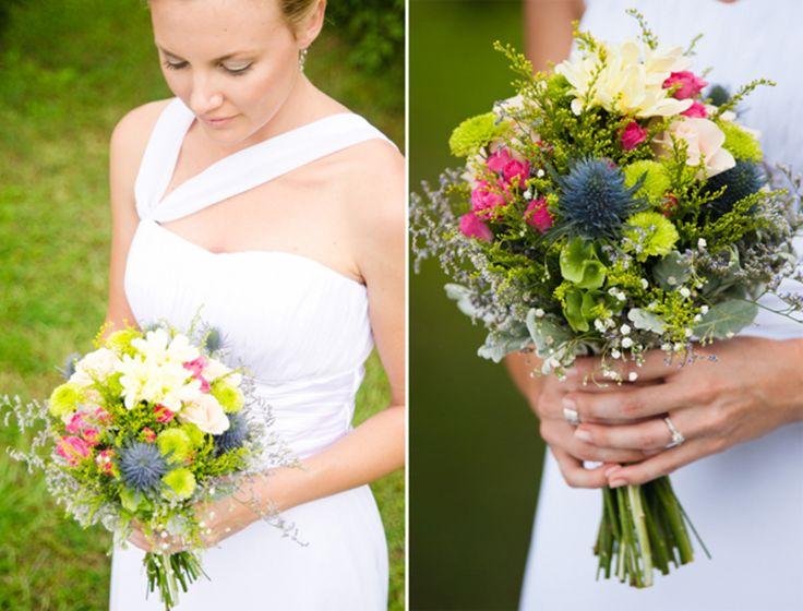 Natural bouquets from Lauren & Igor's rustic Australian wedding