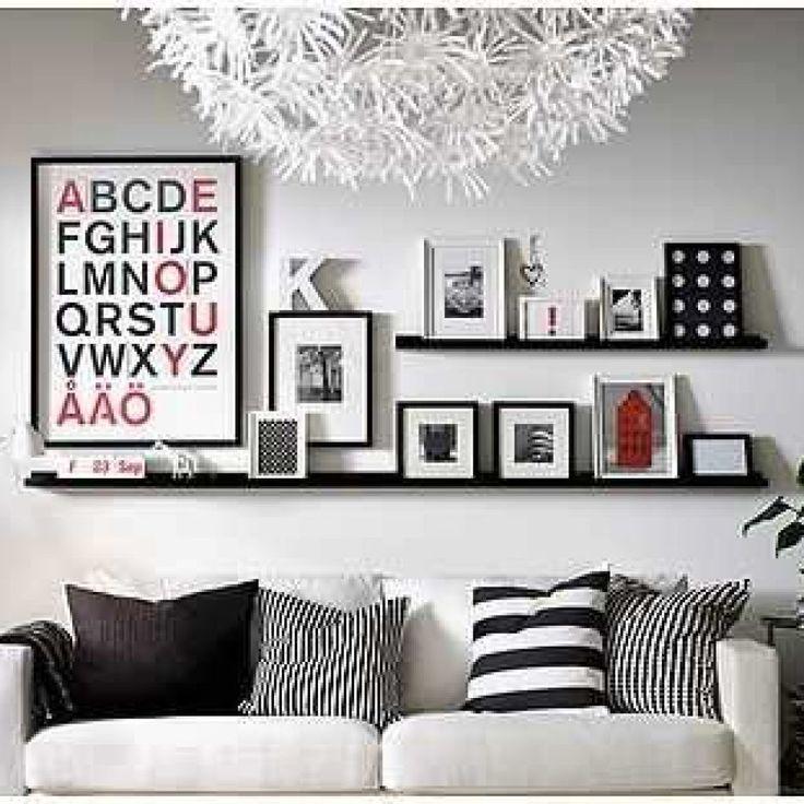 "Ikea Picture Ledge 22"" Floating Shelf Black White Spice ..."