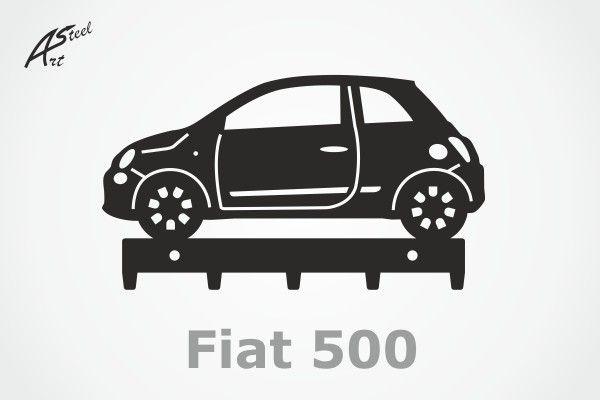 Wieszak na klucze / key rack - Fiat 500 #wieszak #fiat #500 #klucze #design #dekoracja #pomysl #prezent #idea #car #auto #samochod