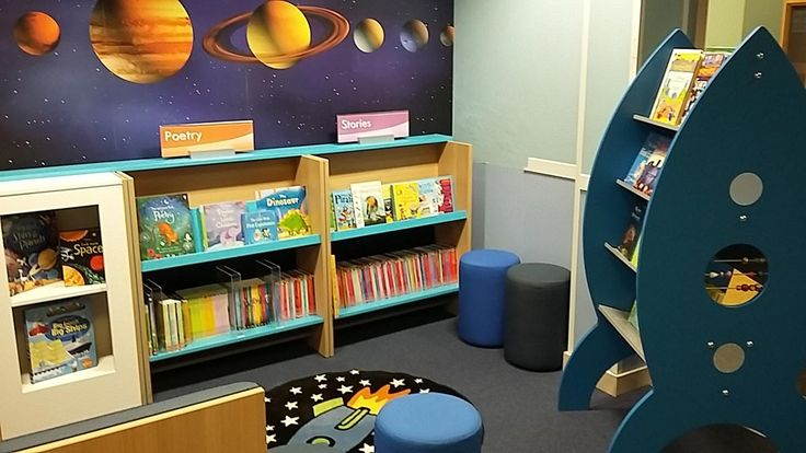 Space-themed primary library design