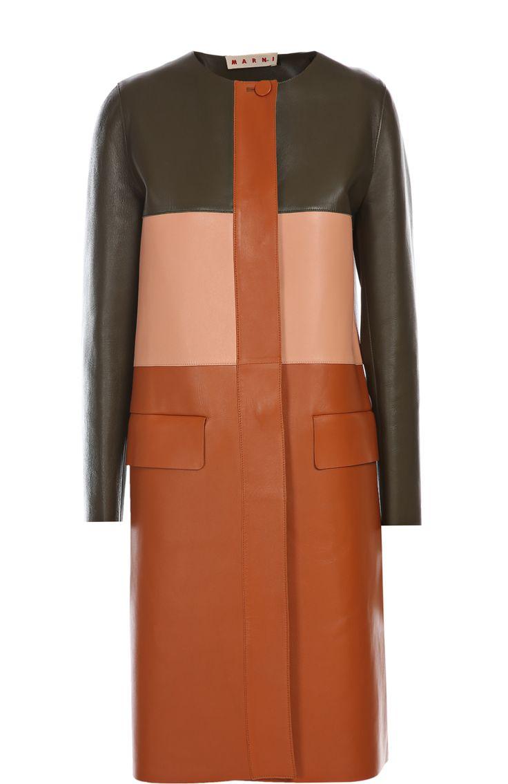 Marni Куртка кожаная Разноцветный 188 500 Р.