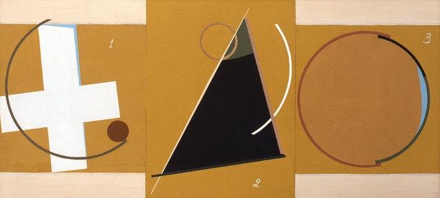 Edik Steinberg Composition (Triptyque) 1990 70 x 150 cm Gouache sur carton Galerie Claude Bernard