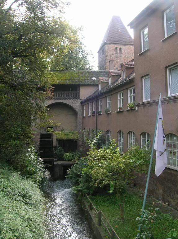 Augsburg, Wasserrad am Vogeltor
