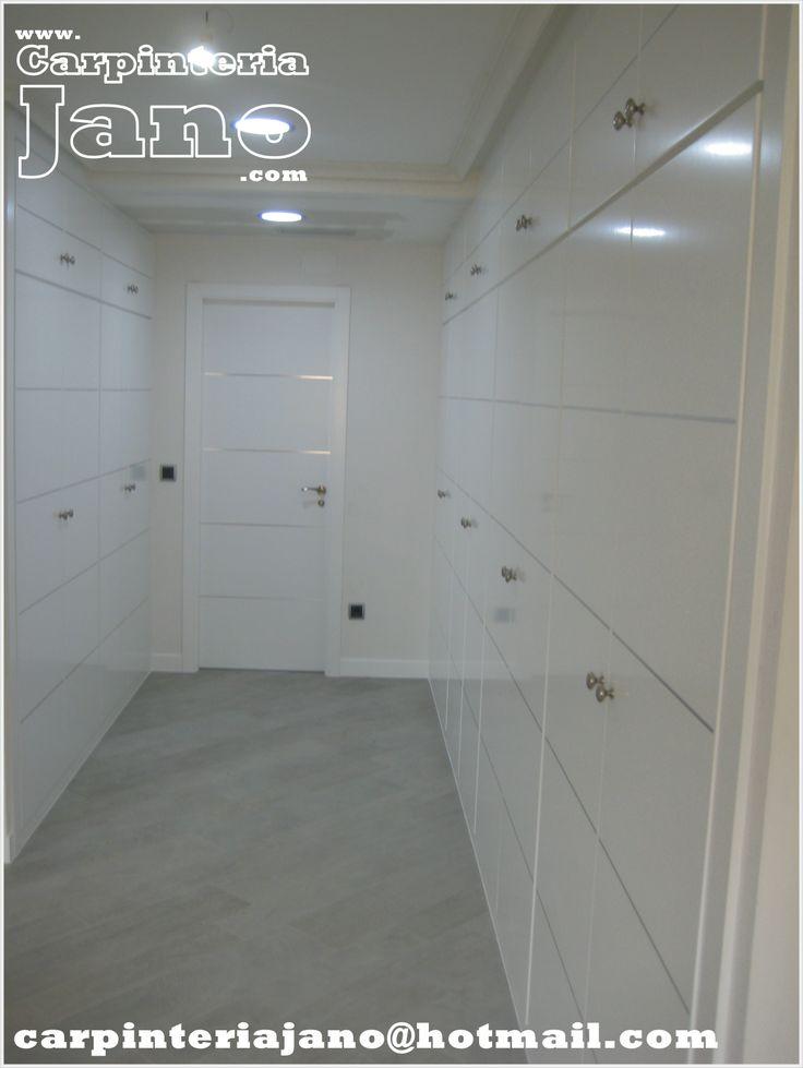 Armario vestidor de 8m con puertas abatibles modelo alho4 for Modelos de puertas de aluminio blanco