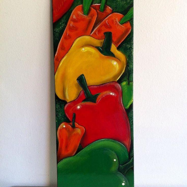 Shared by reygarcialugo #landscape #contratahotel (o) http://ift.tt/23CB41o de las recientes pinturas en esta oportunidad es los vegetales pimentones  A la venta.  #Venta #afro #ArtRey #art #arts #negritas #paints #vzla #pinturas #dibujos #paisajes #pinturaSobreMadera #ReyGarciaLugo #colores #tropical #FrutasTropicales #personajes #bailaora #flamenco #artesanía #salamandras #camaleón
