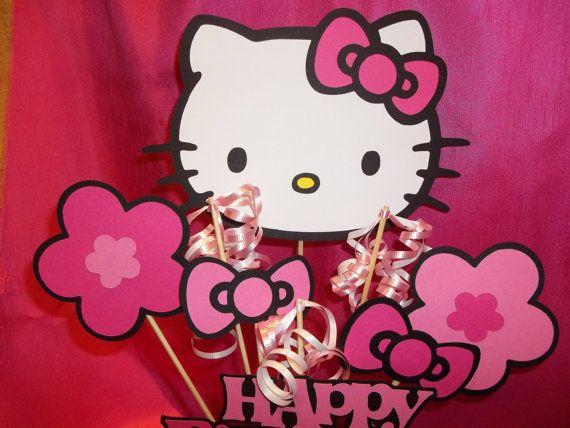 Hello Kitty Centerpiece Made with Hello Kitty Cricut Cartridge