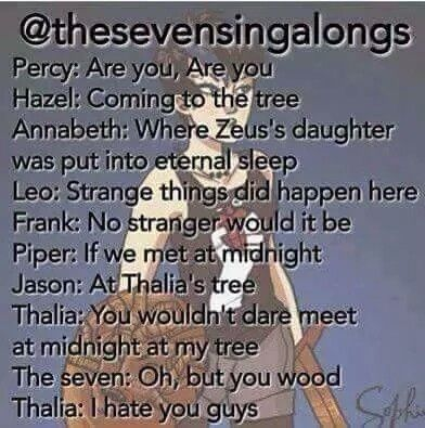 Percy Jackson version off the hanging tree from the HungerGames