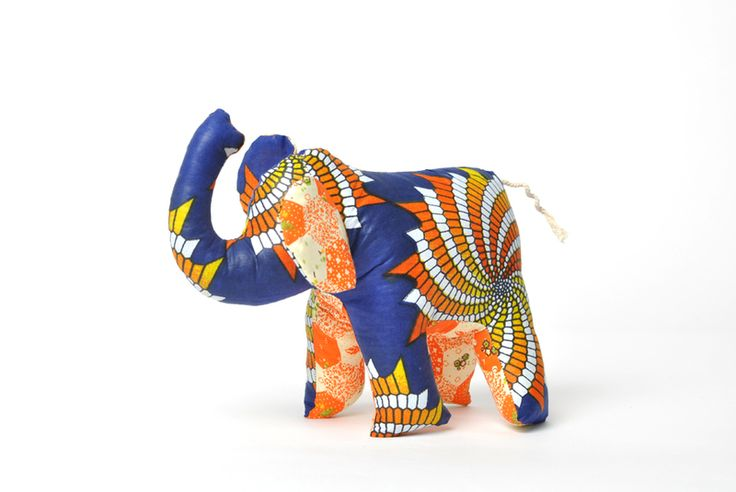Stuffed Shweshwe animals from Africa Unite by DaWanda.com