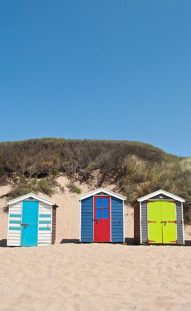 Saunton Sands beach huts, Devon