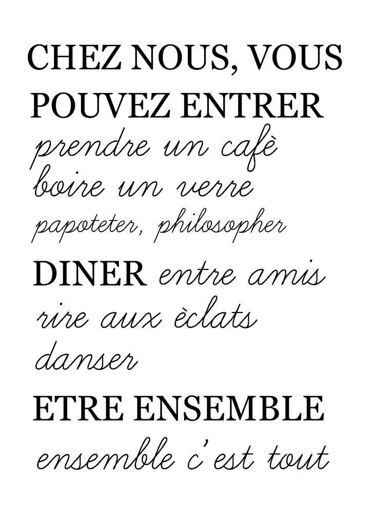 """Affiche """"Chez nous..."""""""