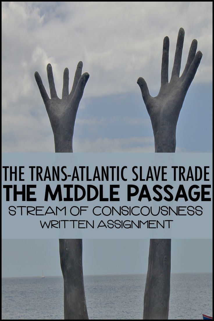 This written assignment is perfect for the middle school social studies classroom.  It challenges students to consider the feelings of an enslaved individual on the middle passage.  Students have to consider the horrors of that event in history.  This written assignment comes with an assignment description, a rubric and more information about the genre for the teacher.  #teacherspayteachers