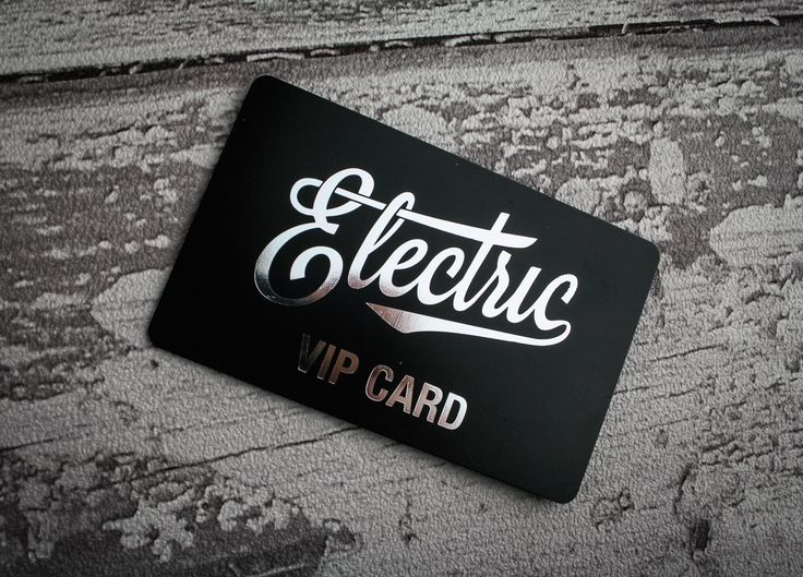 A bright silver foil on a matt black plastic card is a sure fire way to make your VIP Card stand out! We love this design #getcreative #inspiration #plasticcards
