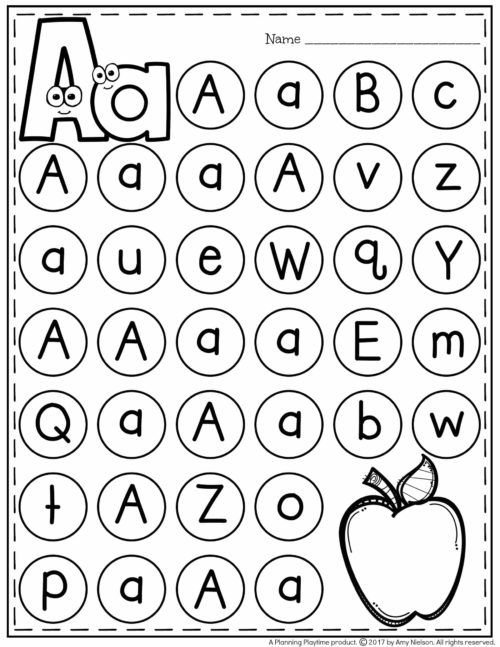 FREE Letter Worksheet - Alphabet Mazes Page A