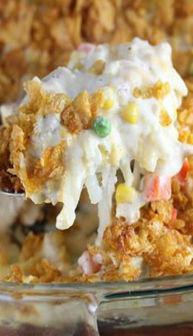 Hash brown chicken casserole. We really enjoyed this dish. I will make this again.