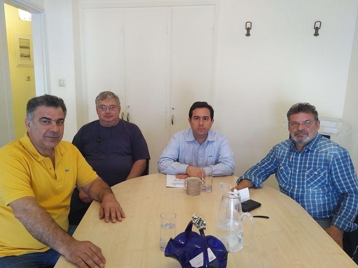 Συνάντηση Ν. Μηταράκη με εκπροσώπους του Επιμελητηρίου Χίου - http://goo.gl/85YtP3 #chios #epimelitirio #fpa