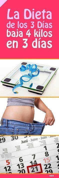 La Dieta de los 3 Días (baja 4 kilos en 3 días) #dieta #adelgazar #rapido #comida