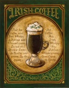 café irlandés Irish coffee