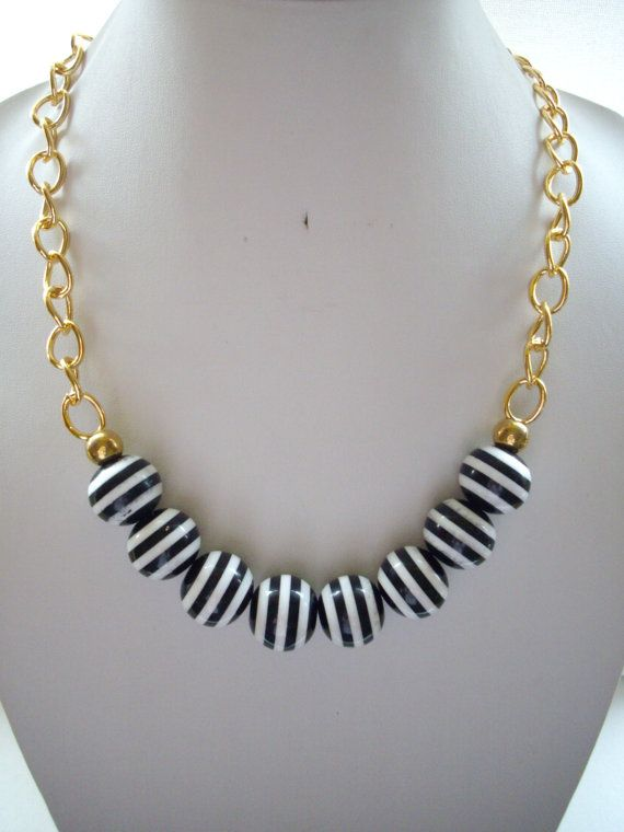 Black and White Bleeding Striped Vintage by DesignsbyPattiLynn, $55.00