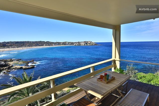 The perfect vacation apartment.  North facing overlooking the entire Bondi beach from the south headland, this is a rare gem!   One of Sydney's most exclusive locations. Watch sun rise over ocean from either the large master bedroom, lounge room or large deck.  New furnishings, floorboards, bi-fold doors.  Magical views and energy in our Zen space.   North facing overlooking the entire Bondi beach from the south headland.