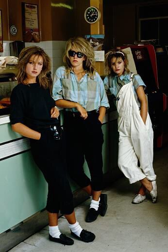 Bananarama. The shoes and the sock remind me of Michael Jackson.