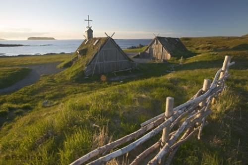 Photo of the Norstead Viking Site on Western Newfoundland, Canada.