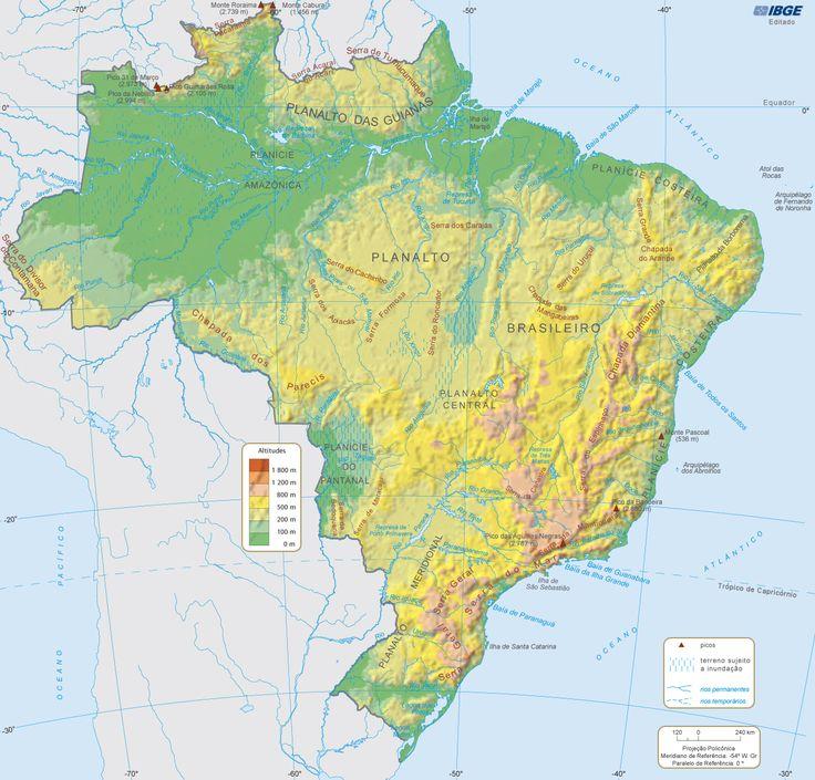 Mapa Fsico do Brasil 99 best Mapas