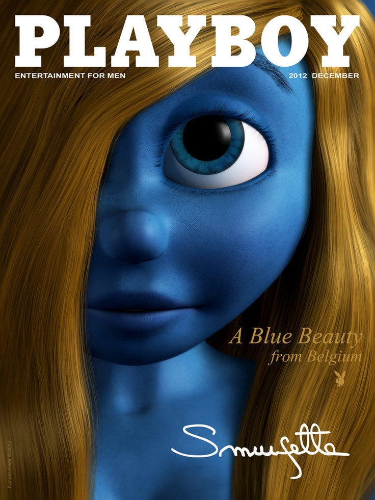 Smurfs 3d Wallpaper Smurfette On Playboy Cover Torpilla By Kondaspeter On