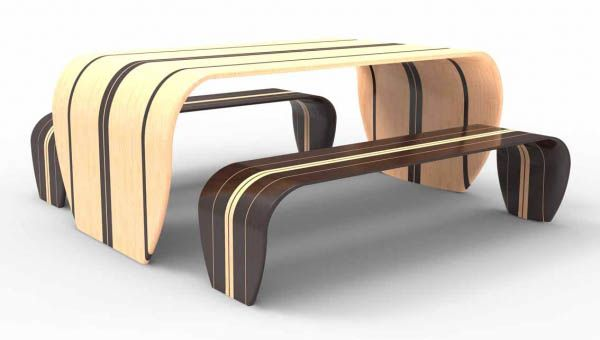 Love This!... surfboard inspired table and benches