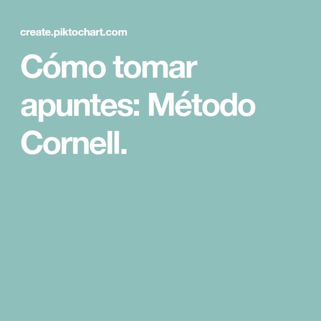 Cómo tomar apuntes: Método Cornell.
