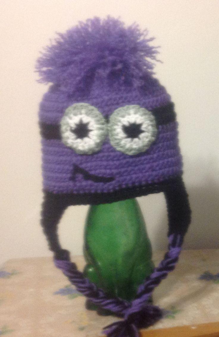 54 best crochet hats minions purple images on pinterest purple minion hat bankloansurffo Image collections