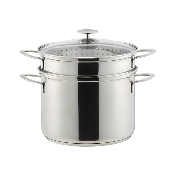 Crate and Barrel Stainless Cookware by Berndes 8 qt. Multicooker with Lid | Crate and Barrel