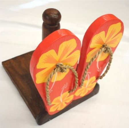 Amazon.com: Wood Flip Flop Designed Tropical Paper Towel Holder - Flip Flops Are 7.5 Tall, Base Is 6.875 X 5.875: Home & Kitchen